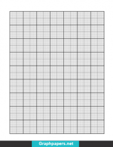 ¼'' Inch Graph Paper