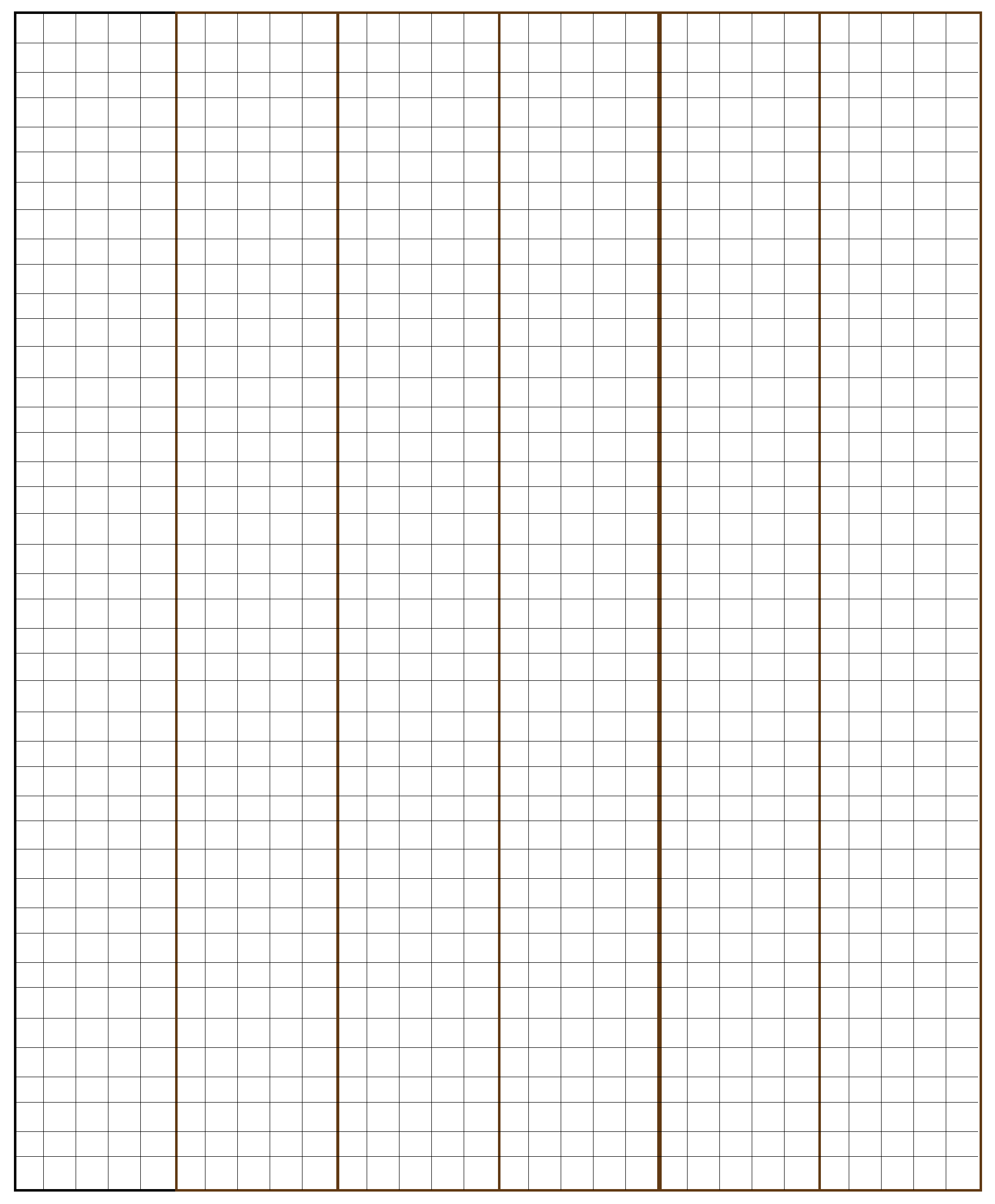 Grid Paper Template